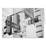 Broadway Times Square Card