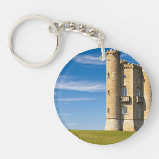 Broadway Tower, England Double-Sided Round Acrylic Keychain
