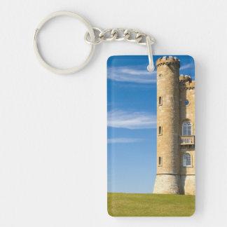 Broadway Tower, England Double-Sided Rectangular Acrylic Keychain