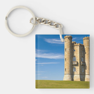 Broadway Tower, England Double-Sided Square Acrylic Keychain