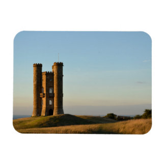 Broadway tower in the Cotswolds rectangle magnet