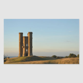 Broadway tower in the Cotswolds rectangle sticker