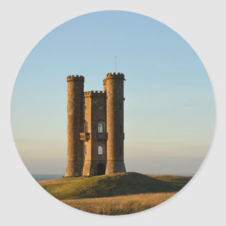 Broadway tower in the Cotswolds round sticker