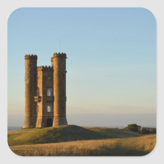 Broadway tower in the Cotswolds square sticker