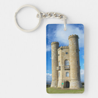 Broadway Tower, Near Broadway, Worcestershire 2 Double-Sided Rectangular Acrylic Keychain