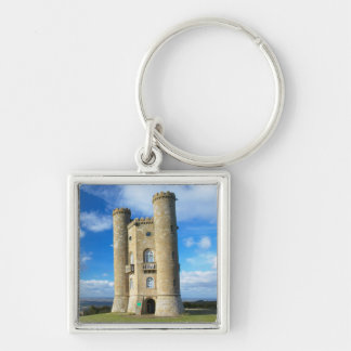 Broadway Tower, Near Broadway, Worcestershire 2 Silver-Colored Square Keychain