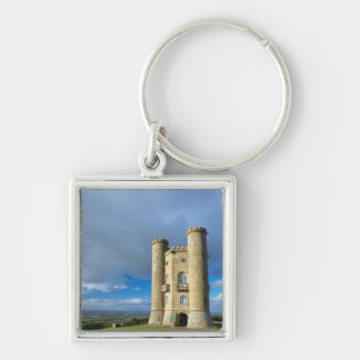 Broadway Tower, Near Broadway, Worcestershire Silver-Colored Square Keychain