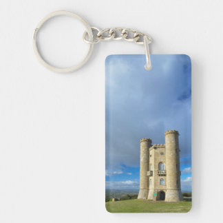 Broadway Tower, Near Broadway, Worcestershire Double-Sided Rectangular Acrylic Keychain