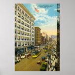 Broadway, vintage 1916 de Los Ángeles Posters