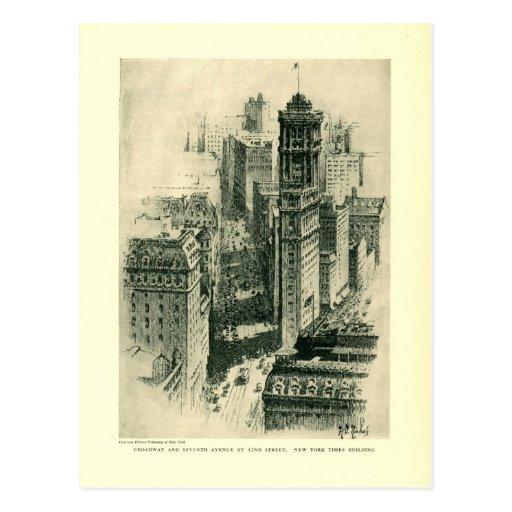 Broadway, vintage 1927 de New York City Postales