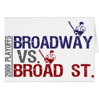 Broadway vs Broad St Card