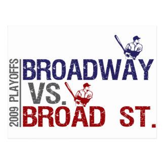 Broadway vs Broad St Postcard