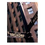 Broadway/Wallstreet Post Card