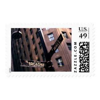 Broadway/Wallstreet Postage Stamps