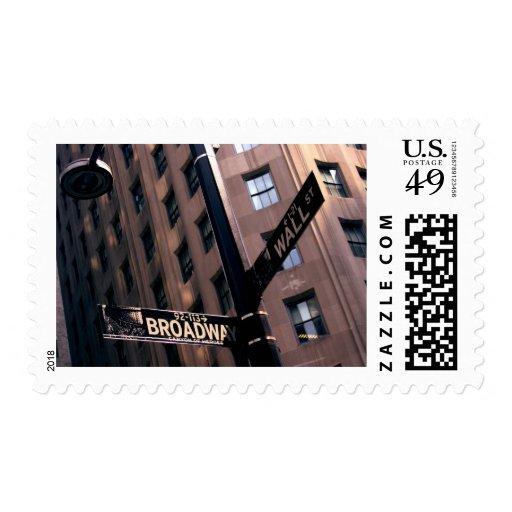Broadway/Wallstreet Postage Stamps