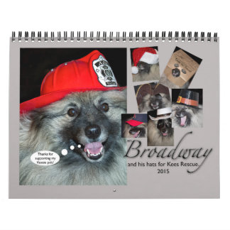 Broadways Hats for Rescue calendar