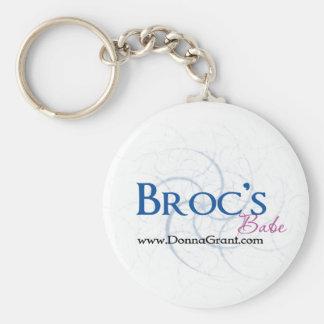 Broc Basic Round Button Keychain