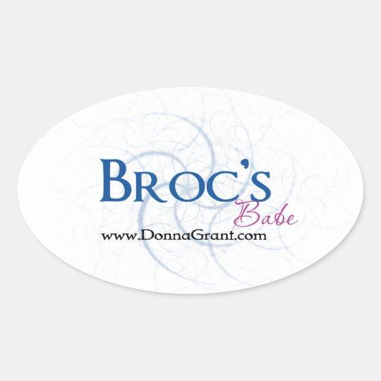 Broc Oval Sticker