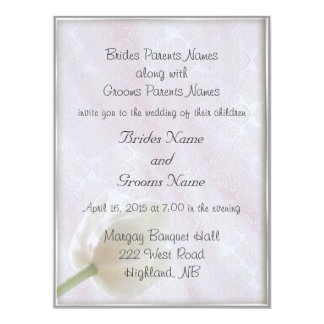 Brocade and Tulip Wedding Invitations