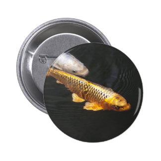 Brocade carp button