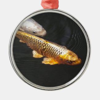 Brocade carp metal ornament