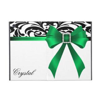 Brocade Green Bow Damask Ipad Mini Case
