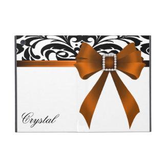 Brocade Orange Bow Damask Ipad Mini Case