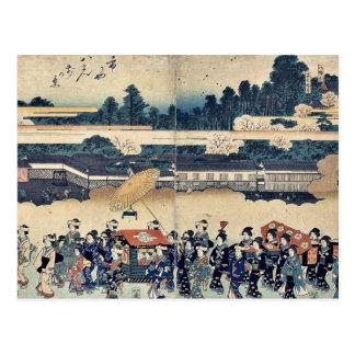 Brocade parade by Utagawa,Hiroshige Post Cards