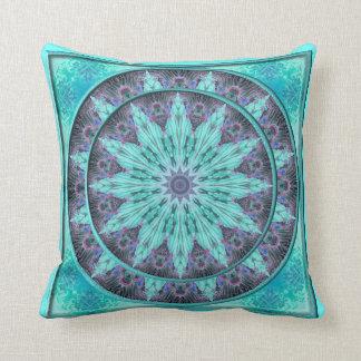 Brocade Star Kaleidoscope Design Throw Pillow