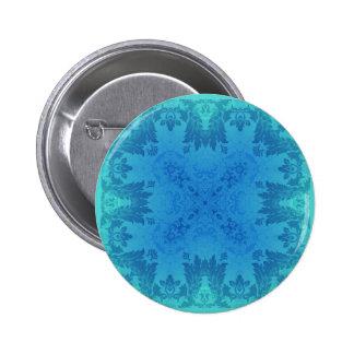 Brocado azul pin