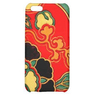 Brocado chino rojo 1825 de Kara Nishiki