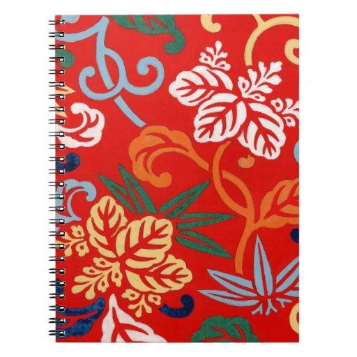 Brocado de Nishike con Paulownia Arabesque1825 Cuadernos