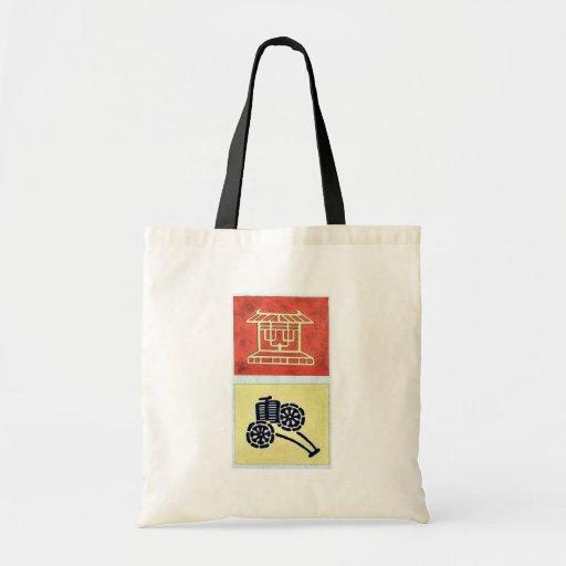 Brocado de Nishiki con Amaterasu Kotai Jingu sinto Bolsas