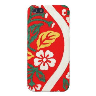 Brocado de Nishiki con las flores de cerezo 1825 iPhone 5 Protectores