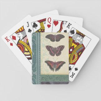 Brocado decorativo de la mariposa por el estudio barajas de cartas