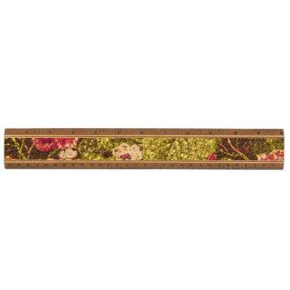 Brocado floral del efecto de la chispa regla de arce