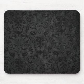 Brocado negro tapetes de raton