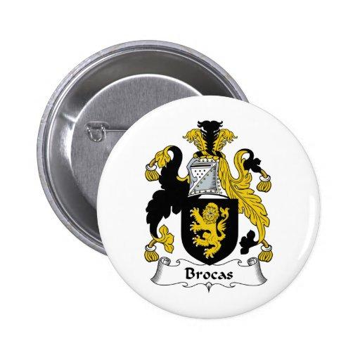 Brocas Family Crest 2 Inch Round Button