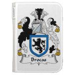 Brocas Family Crest Kindle Cases