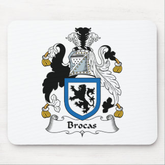 Brocas Family Crest Mouse Pads