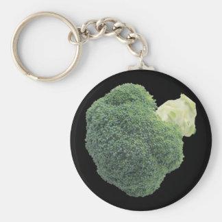 """Broccoli 2.25"""" Basic Button Keychain"""