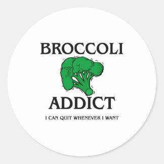 Broccoli Addict Classic Round Sticker