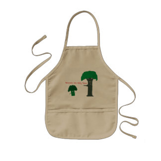 Broccoli are baby trees kids' apron