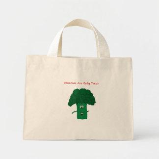Broccoli are baby trees mini tote bag