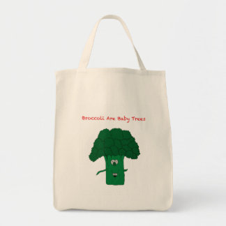 Broccoli are baby trees tote bag
