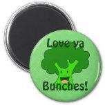 Broccoli Bunch 2 Inch Round Magnet