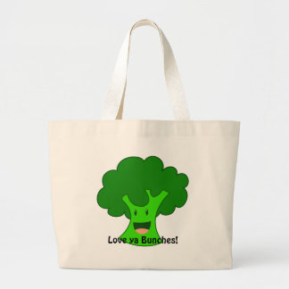 Broccoli Bunch Tote Bags