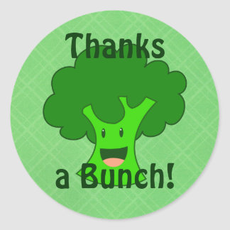 Broccoli Bunch Classic Round Sticker