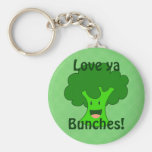 Broccoli Bunch Keychain
