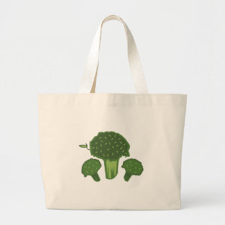 Broccoli Bunch Large Tote Bag